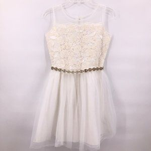 NWOT American Girl cream embroidered lace dress